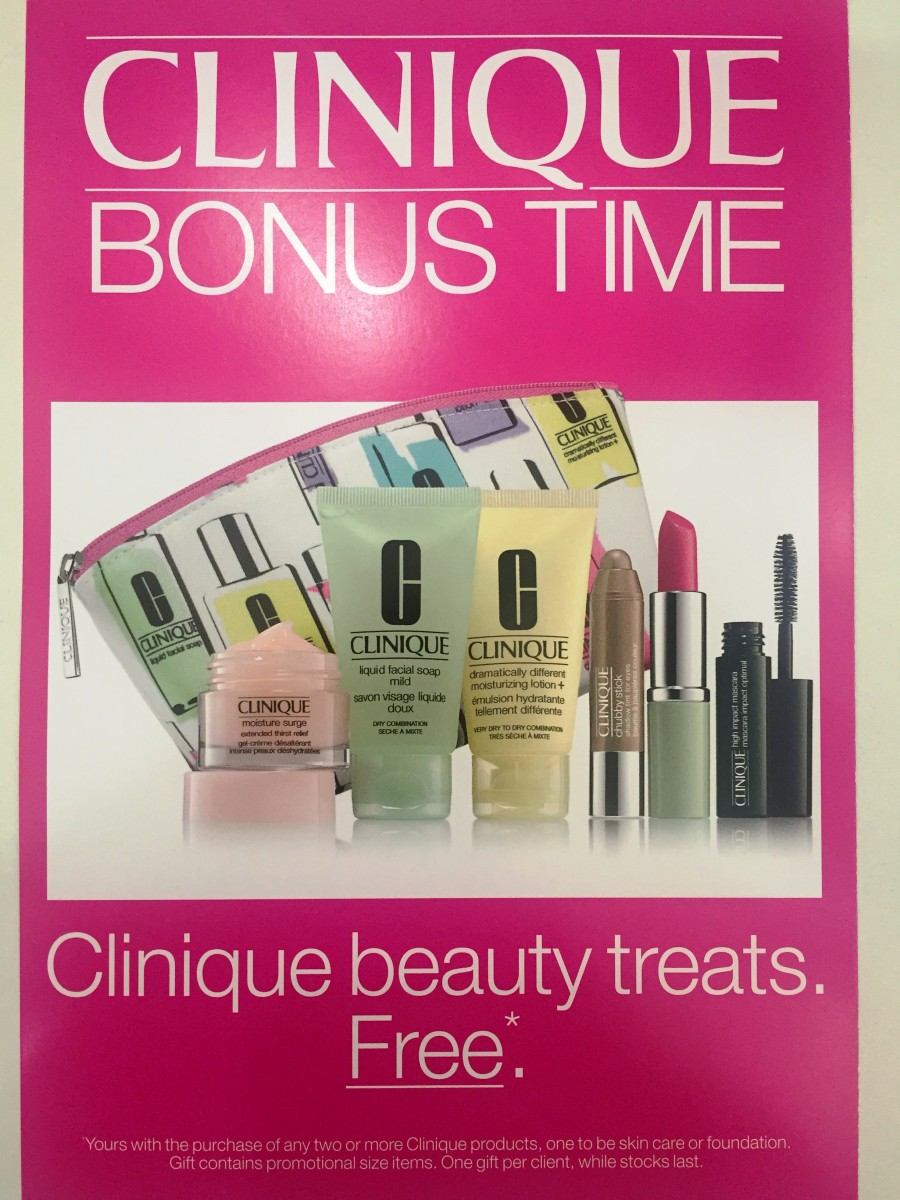 Clinique Bonus Time at Sam McCauleys