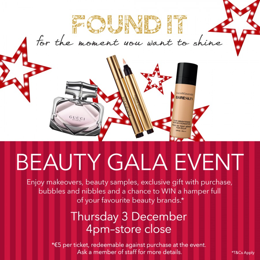 Christmas Beauty Gala Event at Debenhams