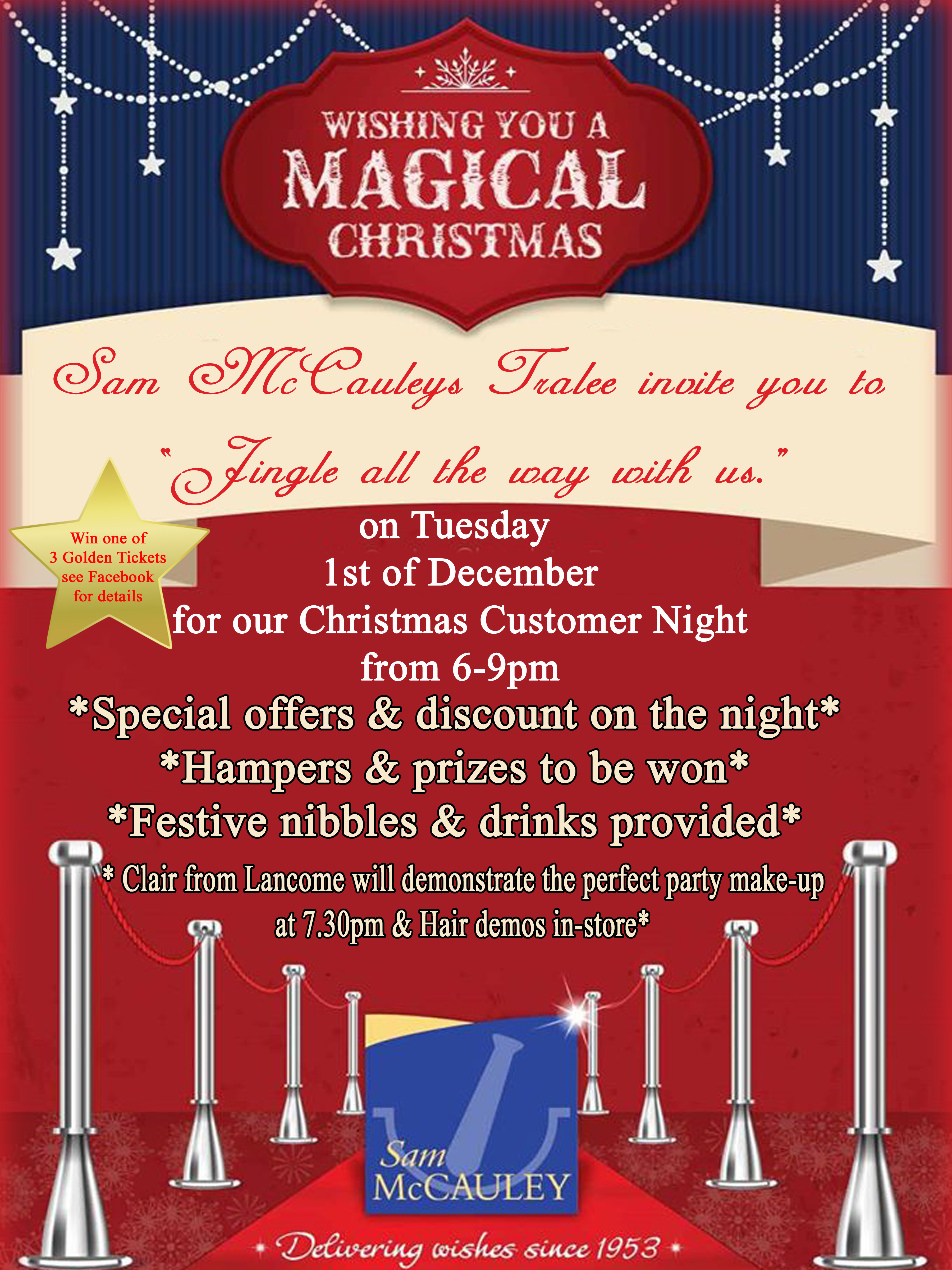 Manor West Christmas Customer Night At Sam Mccauleys