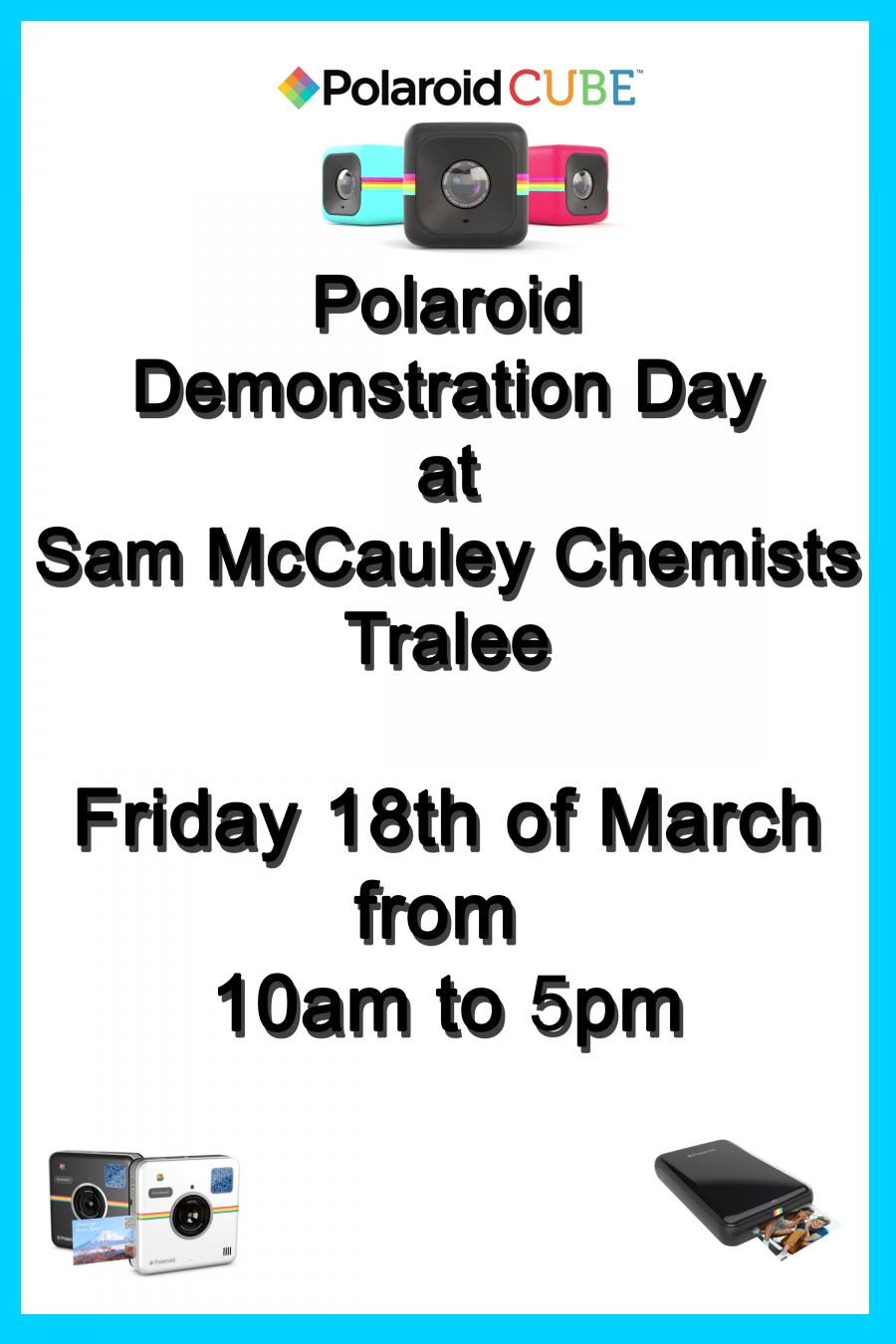 Polaroid Demonstration in Sam McCauleys