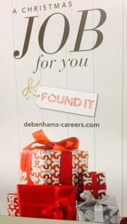 Xmas jobs at Debenhams