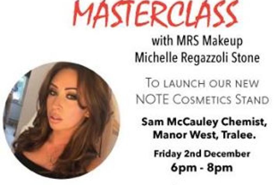 Free NOTE Cosmetics Makeup Masterclass in Sam McCauleys