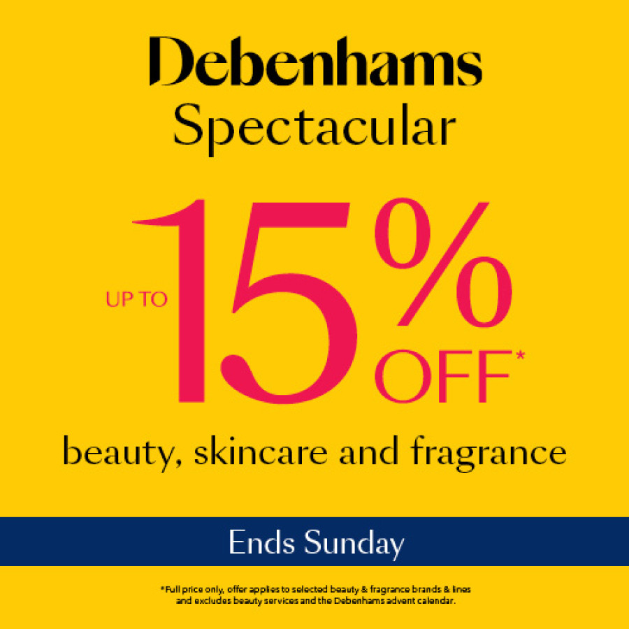 15% Off Cosmetics in Debenhams!