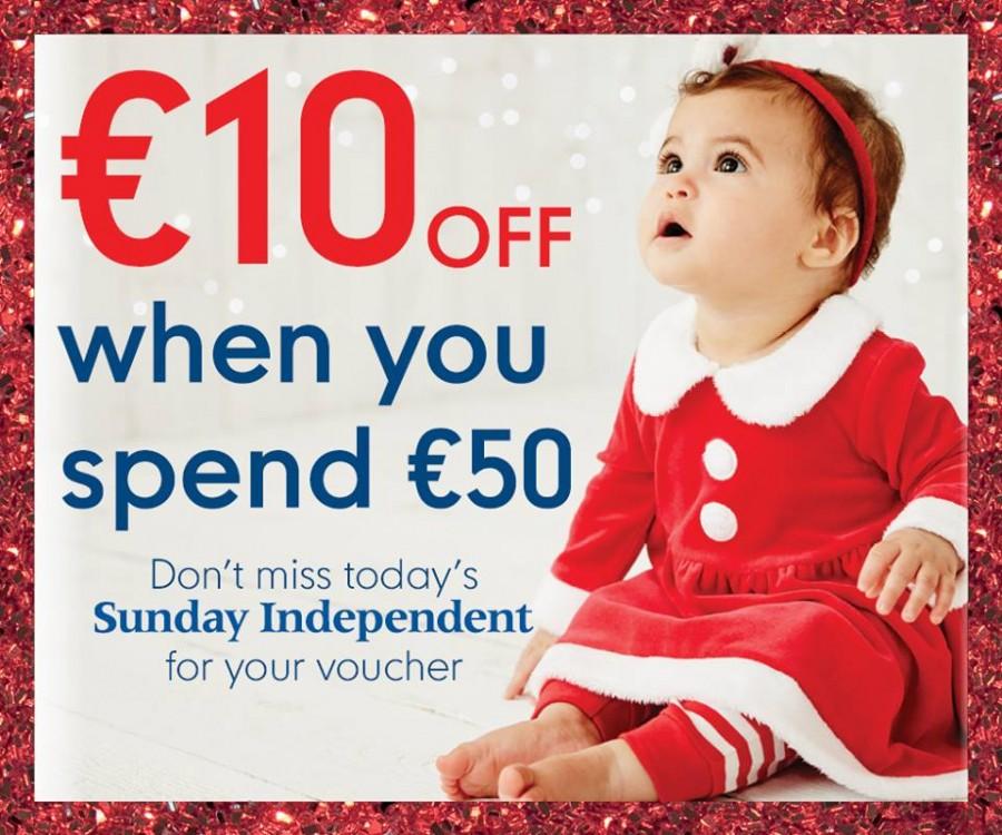 Free Mothercare voucher in Irish Independent