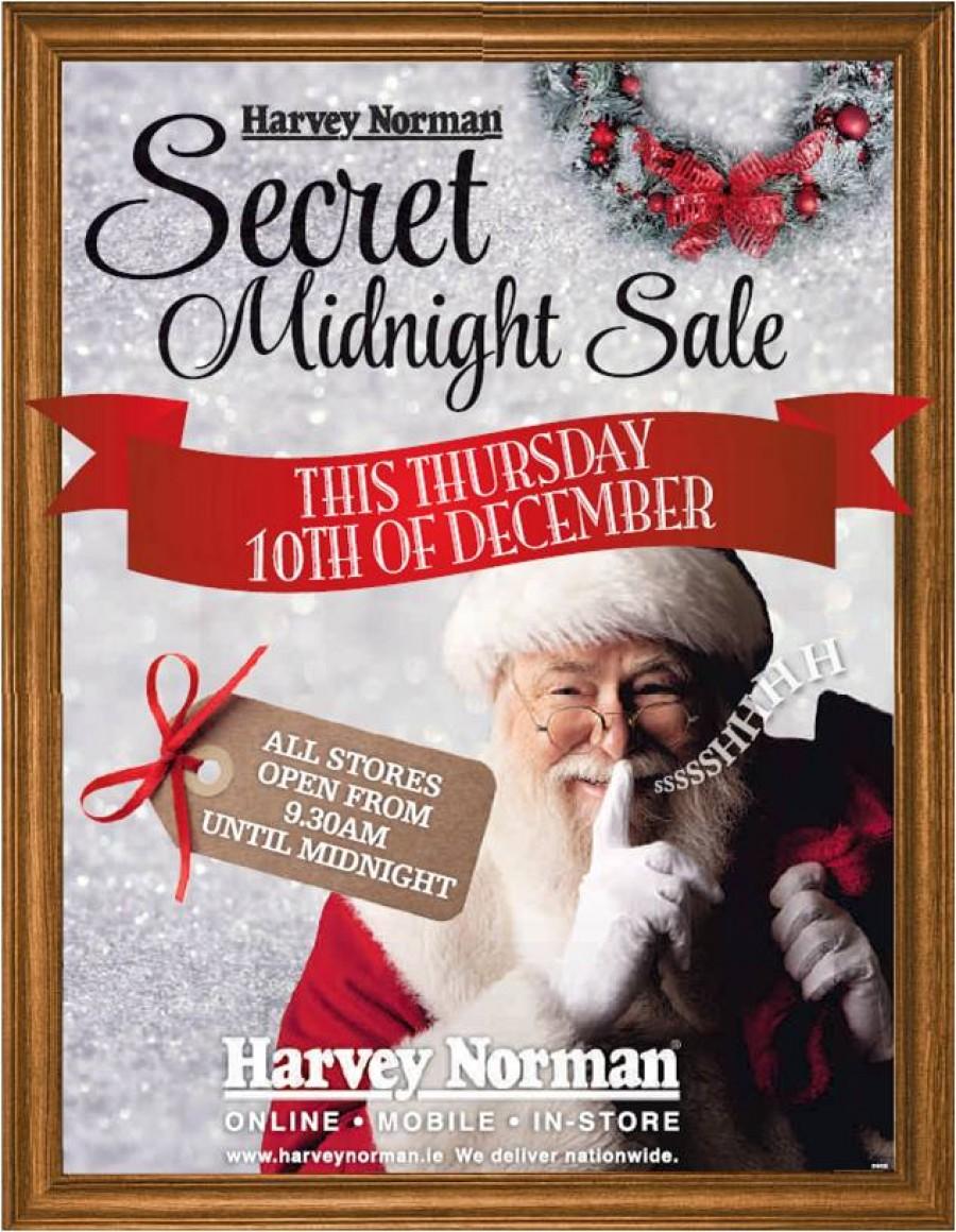 Secret Midnight Sale at Harvey Norman