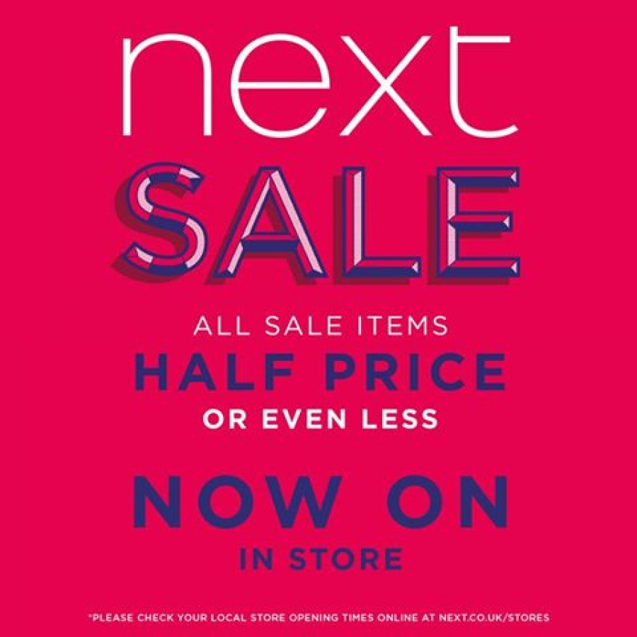 Next Half Price Sale Now On