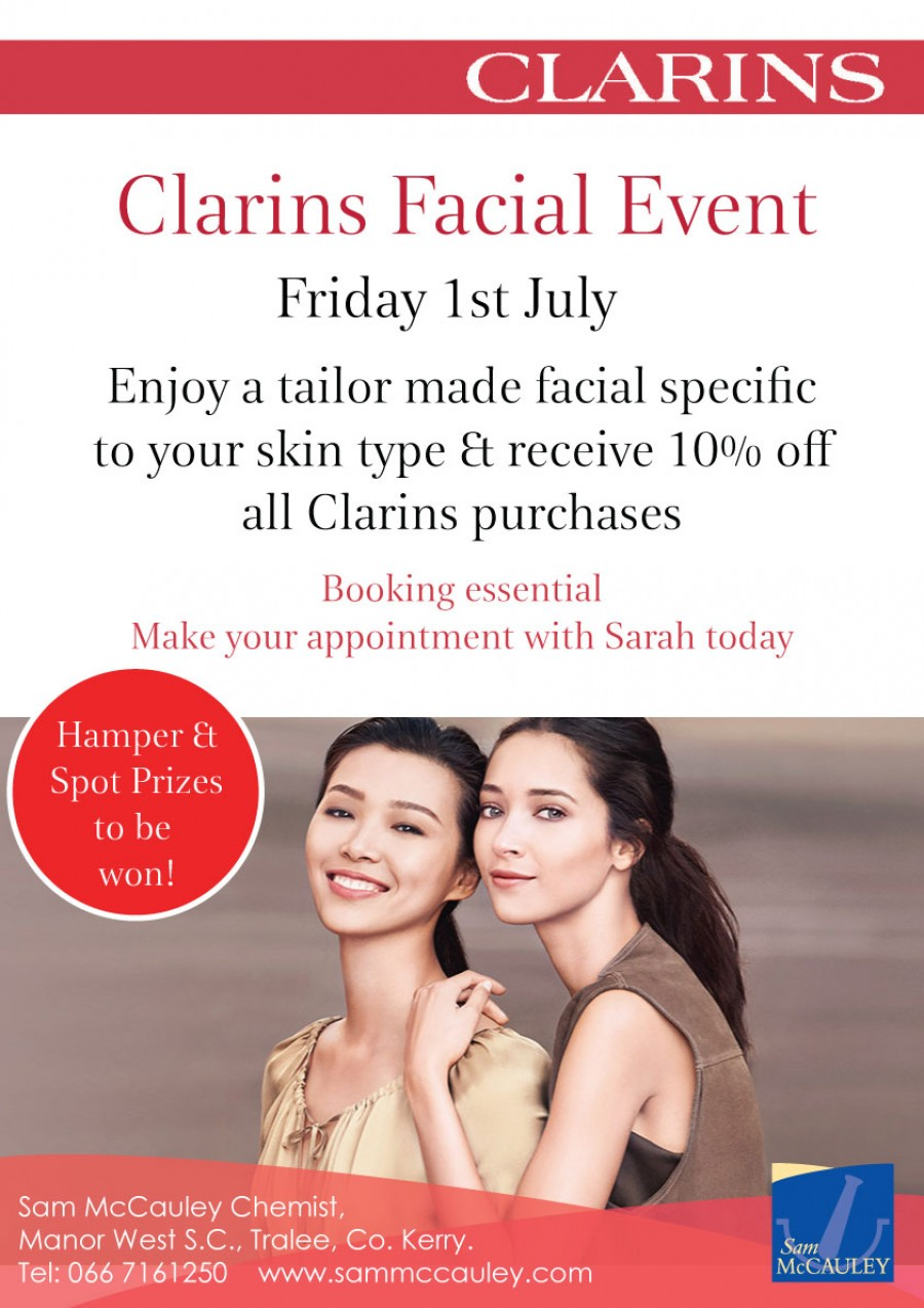 Clarins Summer Facial Event