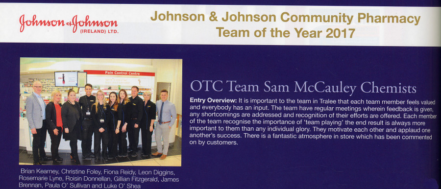 Sam McCauleys in the running again for top awards