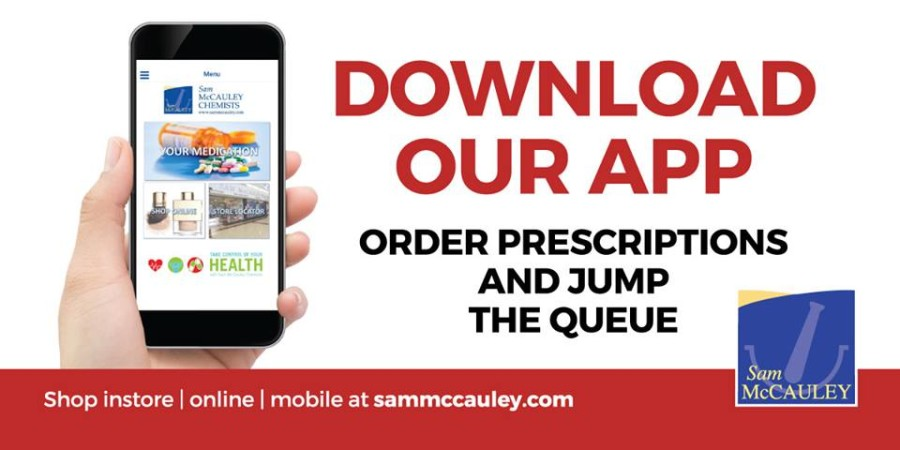 NEW Sam McCauleys App for ordering prescriptions