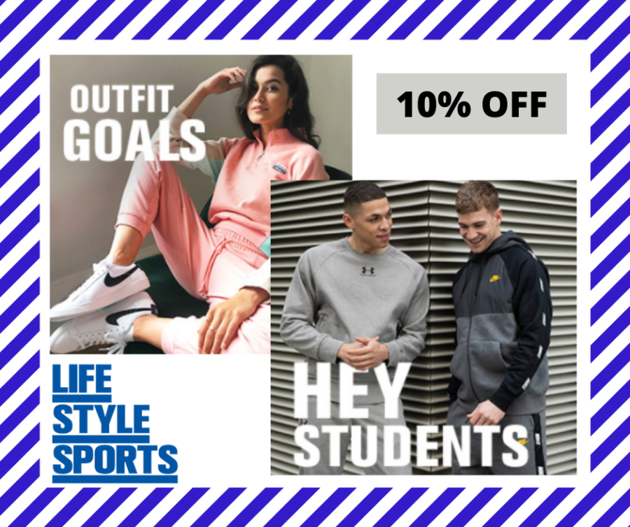 Student's Enjoy 10% off with Lifestlye Sports
