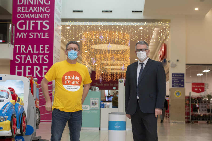Manor West Retail Park announces Enable Ireland as its  Christmas Charity Partner